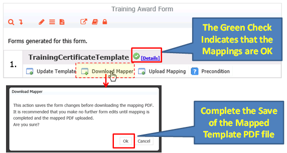 Step 2: Download & Save of the Mapped PDF Template file